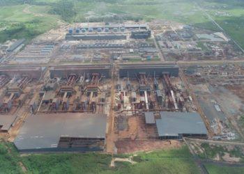 Nama Morosi, Kabupaten Konawe, Sulawesi Tenggara, mendadak terkenal, dengan masuknya investasi asing berdera PT Virtue Dragon Nikel Industri lima tahun lalu. (Foto PT VDNI dari udara)